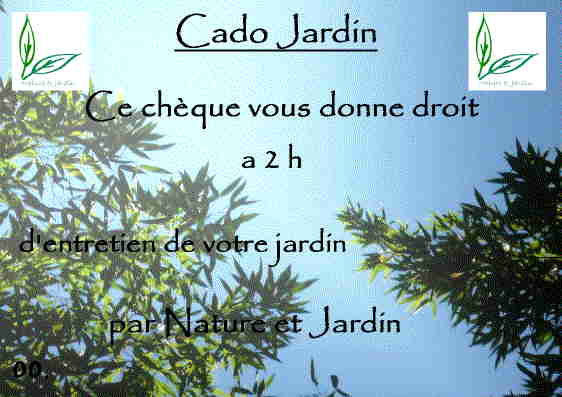 Cado jardin - Cado cheque selection ...